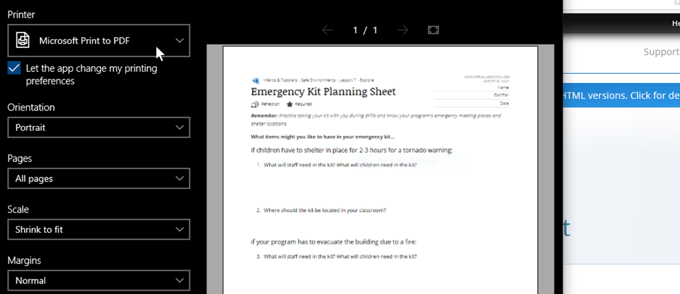 edge browser save to pdf screenshot