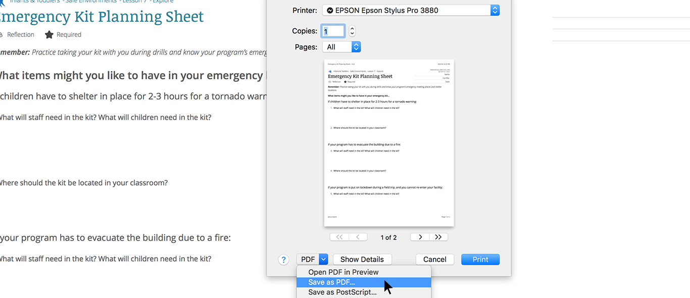 safari browser save to pdf screenshot