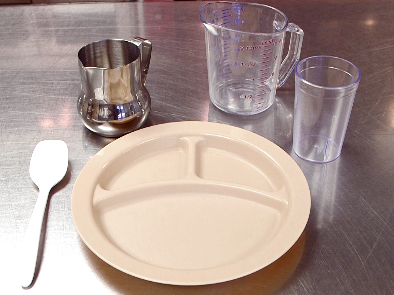 wide-rimmed plates and bowls and pitchers in small sizes